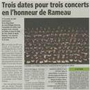 Trois dates en honneur de Rameau