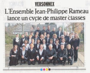 Master Classes janvier 2012