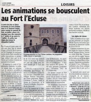 Animations à Fort l'Ecluse