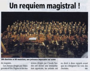 Un requiem magistral !