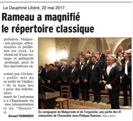 Jean Philippe Rameau a magnifié le répertoire classique