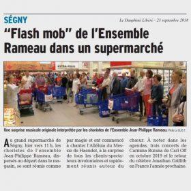 Flash Mob de l'Ensemble Rameau dans un supermarché