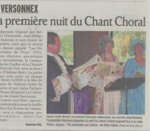 La première nuit du Chant Choral