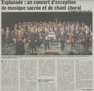 Concert Dvorak décembre 2014