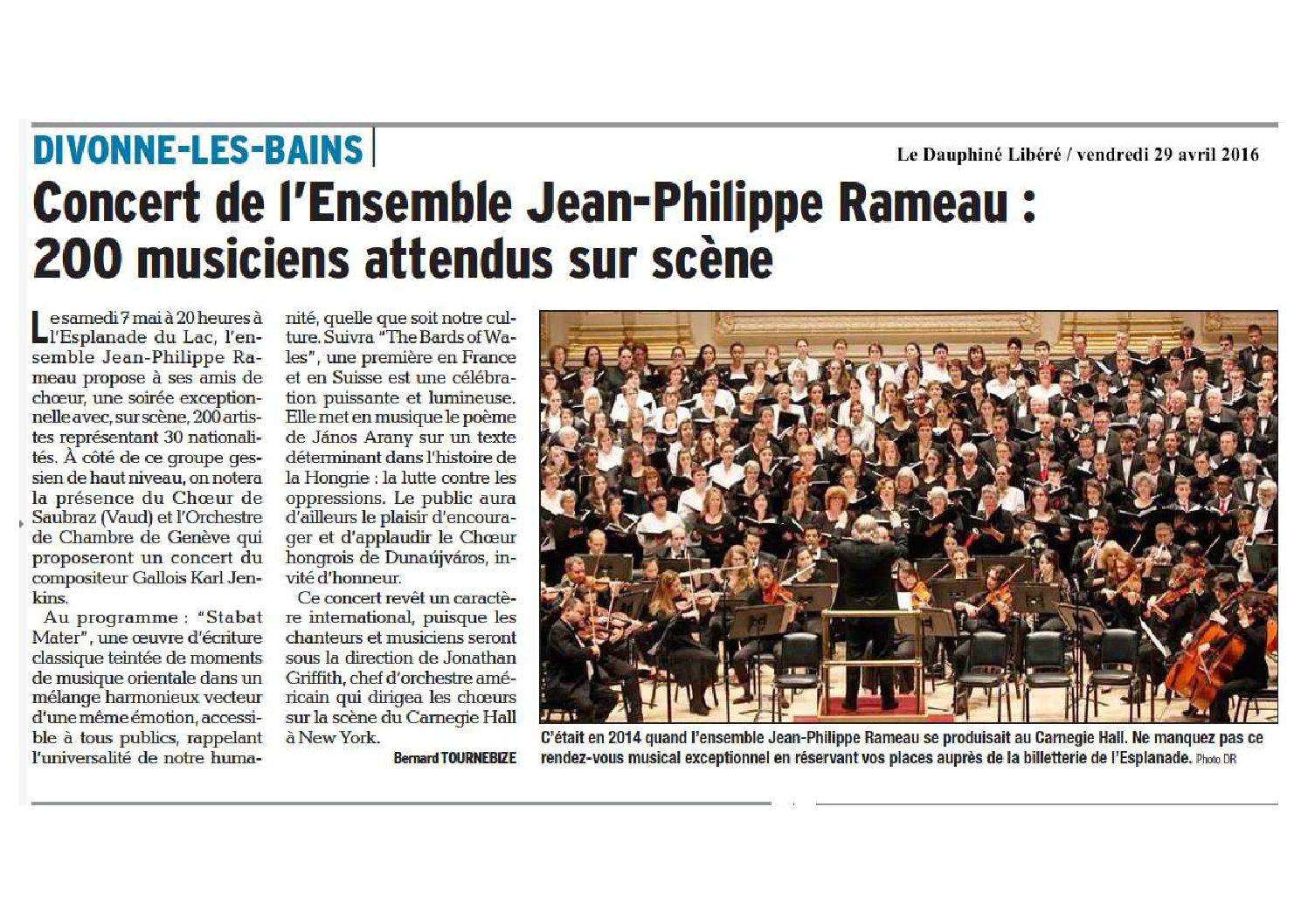 Concert de l'Ensemble JP Rameau