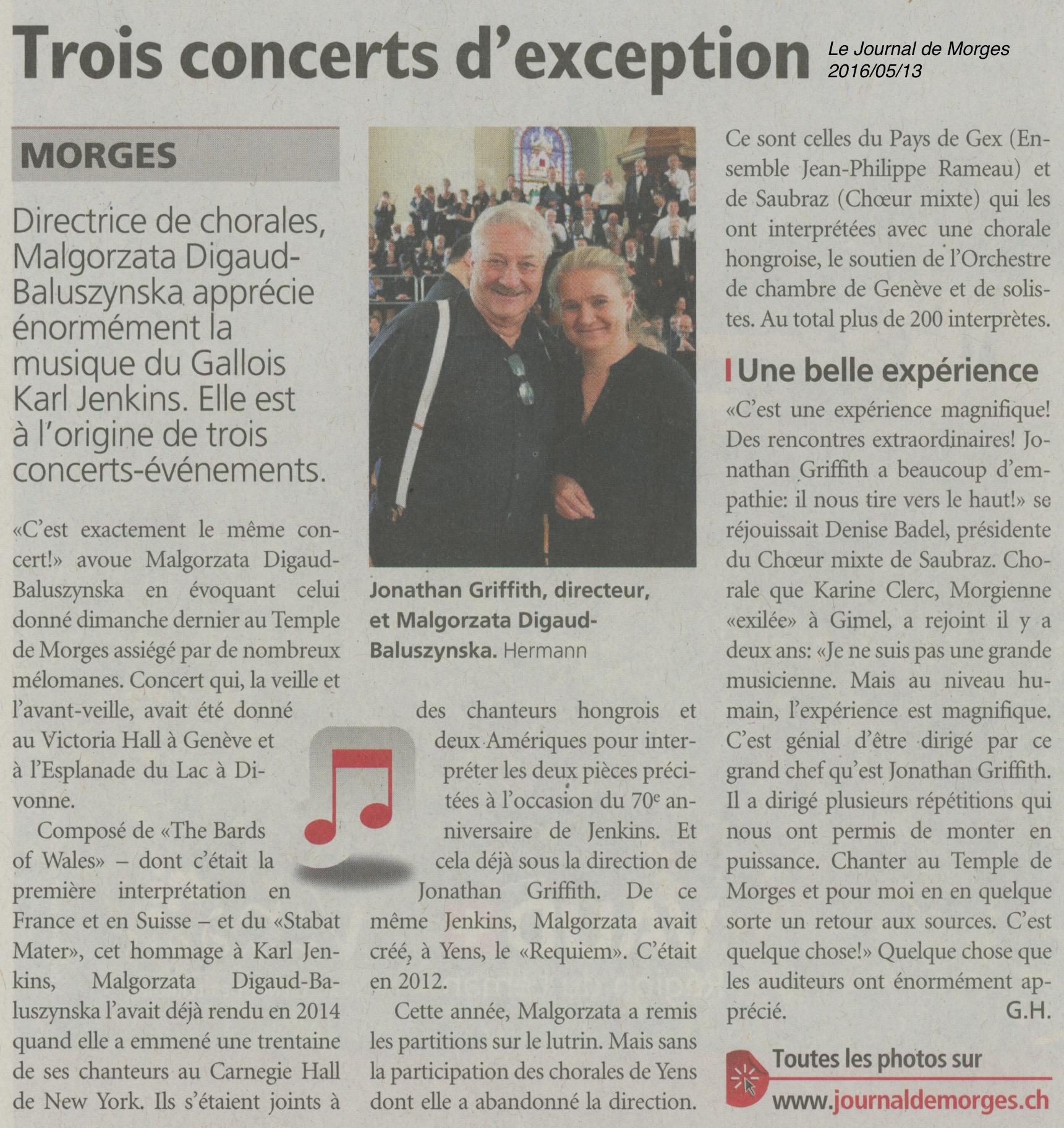 Trois concerts d'exception