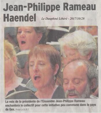 L'Ensemble Jean-Philippe Rameau recherche des choristes