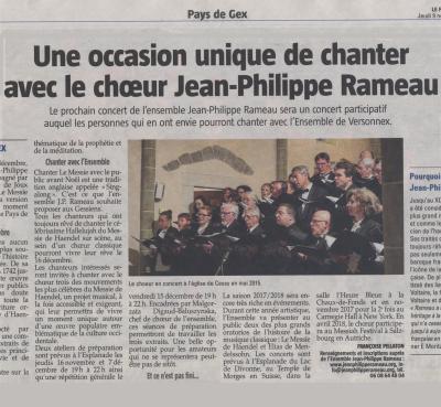 Une occasion unique de chanter avec le chœur Jean-Philippe Rameau