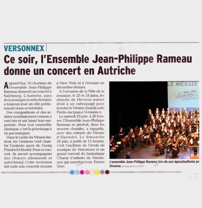 L'Ensemble JP Rameau donne un concert en Autriche