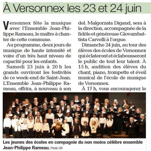 A Versonnex le 23 et 24 juin