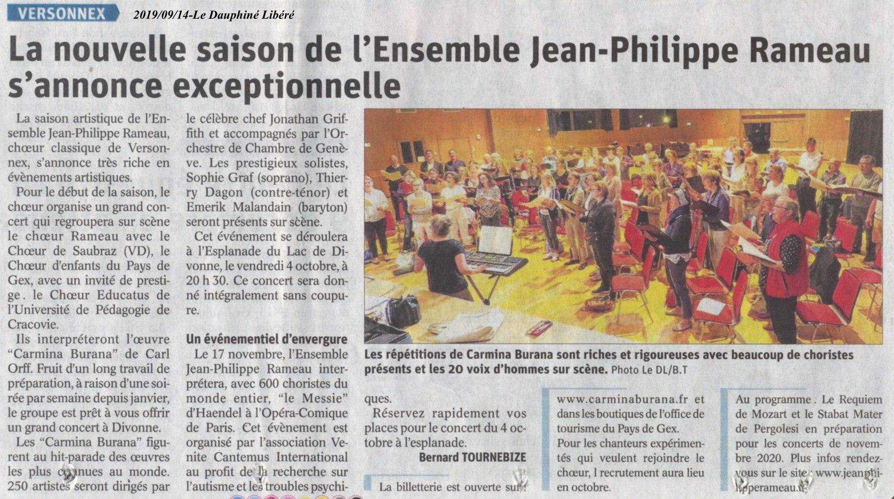 La nouvelle saison de l'Ensemble Jean Philippe Rameau s'annonce exceptionnelle